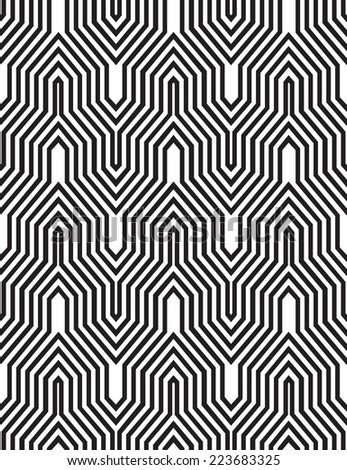 Op art, also known as optical art, is a style of visual art that makes use of optical illusions - stock vector