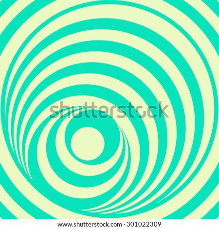 Op Art Circles vector background - stock vector