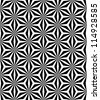 Op art pattern. Seamless geometric texture. Vector art. - stock photo