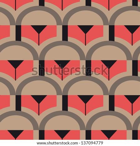Op Art vector seamless pattern - stock vector