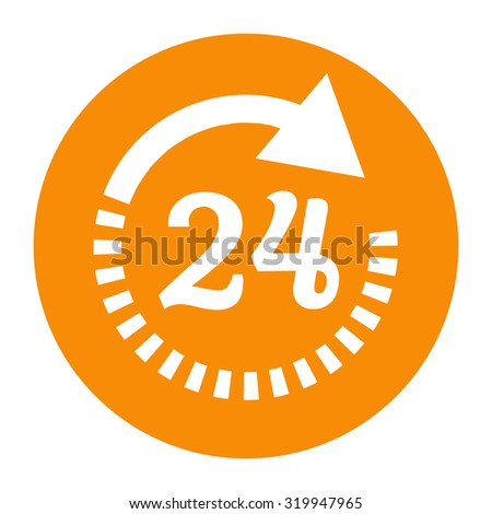 Open around the clock icon. Opening hours icon - stock vector