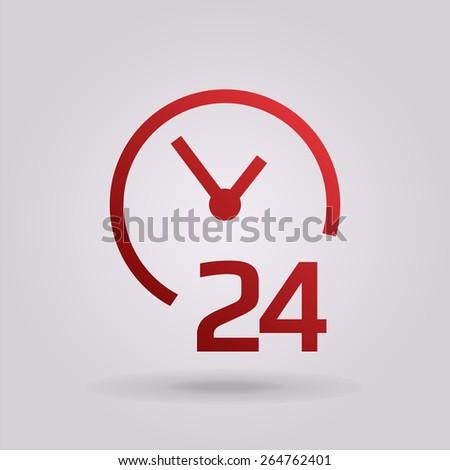 open around the clock icons - stock vector