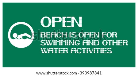 Open beach. Resolution for swimming in this place or in this area, there is no prohibition for active recreation on the water.