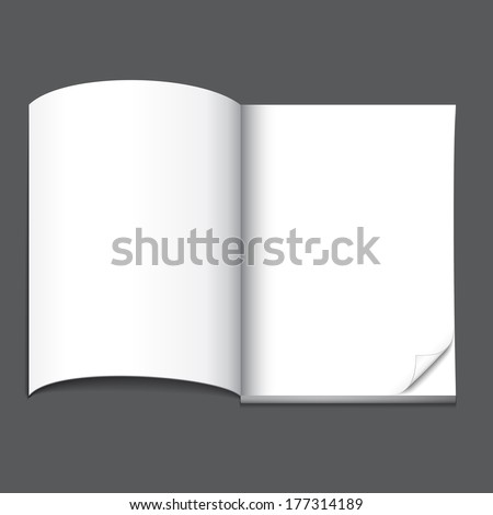 open blank magazine page, ready for your design - stock vector
