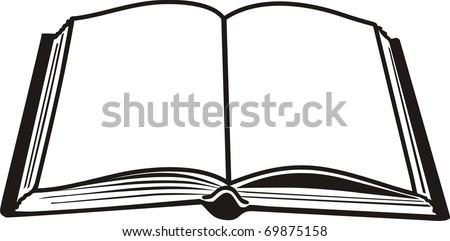 Open book black - stock vector