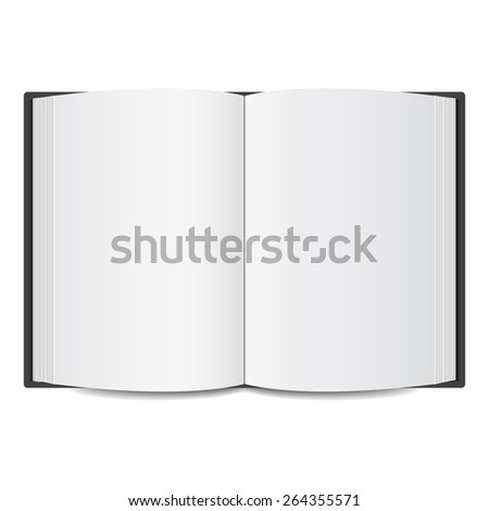 open book blank mock up. vector illustration  - stock vector