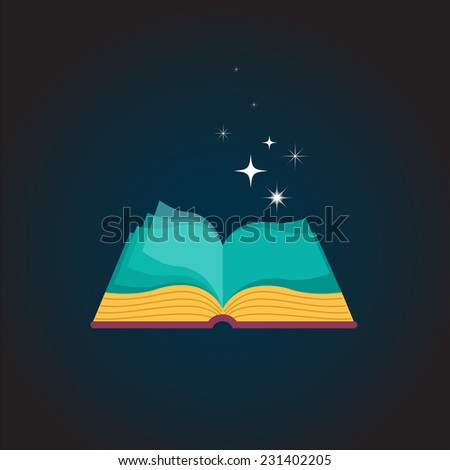 Open Book concept design background