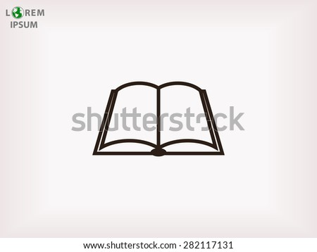 Open book icon - stock vector