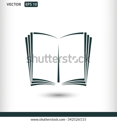 open book icon; vector book icon; illustration; page; education