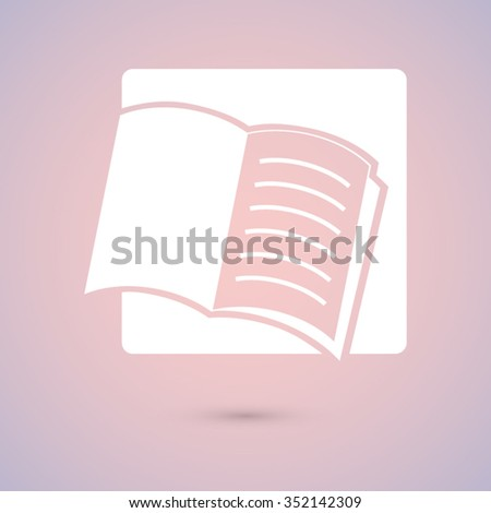 open book icon, vector illustration. Flat design style