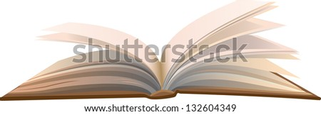 Open book on a white background. - stock vector
