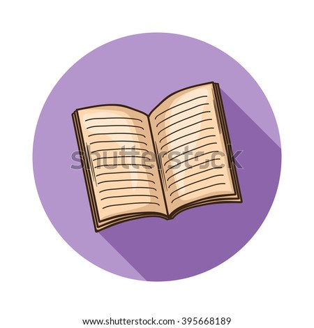 Open Book or magazine icon.Vector open book icon isolated with shadow