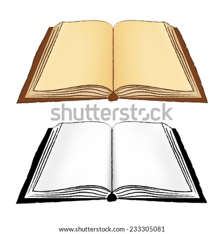 Open Book or Notebook Vector Isolated