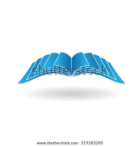Open book signage - stock vector