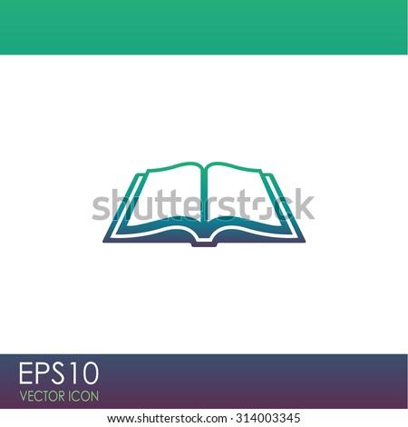 Open book vector icon. - stock vector