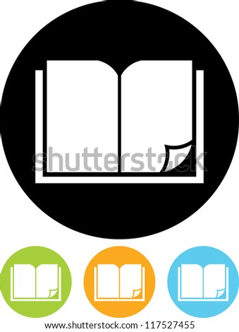 Open book - Vector icon isolated - stock vector