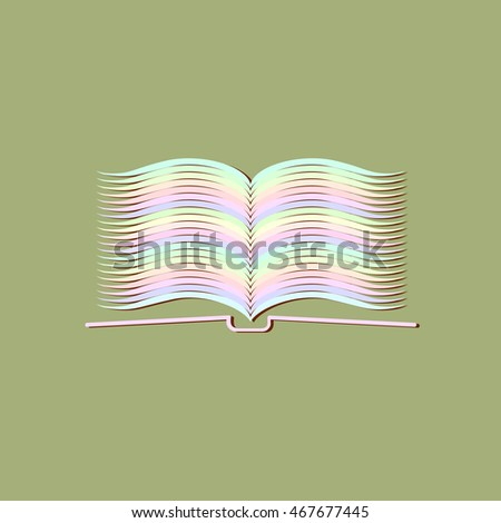 open book, vector illustration