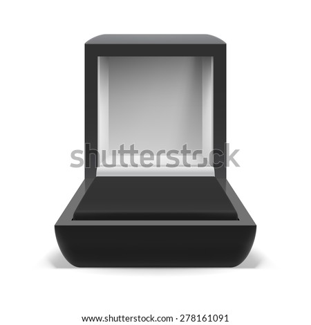 Open box for jewelry on  white background - stock vector
