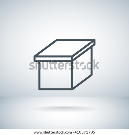 Open box icon, Open box icon eps 10, Open box icon vector, Open  - stock vector