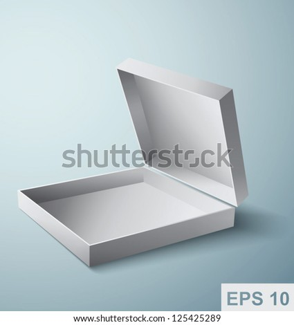 Open box. Vector illustration - stock vector