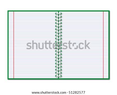 Open copybook - stock vector