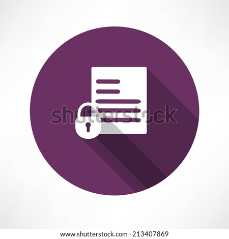 open document icon - stock vector