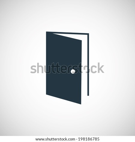 Open Door Icon Vector Open Door Icon