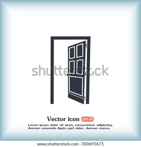 open door vector icon & Open Door Vector Icon Stock Vector 300693671 - Shutterstock