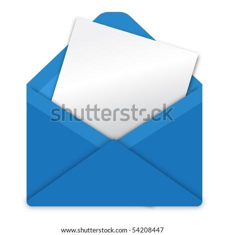 open envelope - stock vector