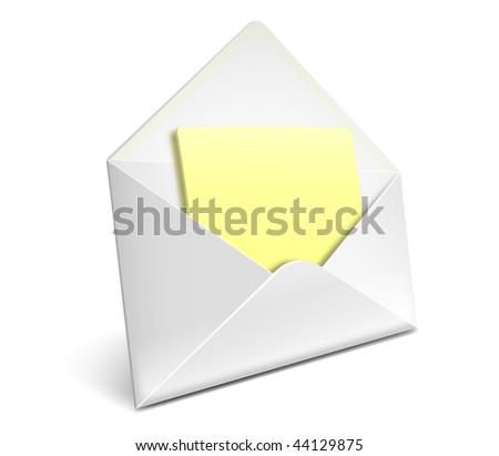 Open envelope with letter vector icon - EPS 10 - stock vector