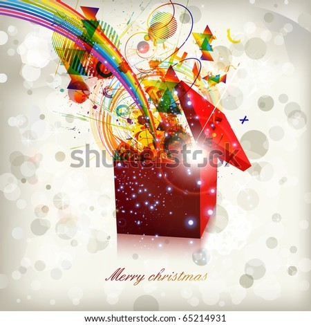 Open explore gift - stock vector