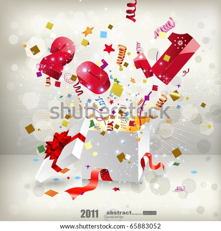 Open explore gift -2011 - stock vector