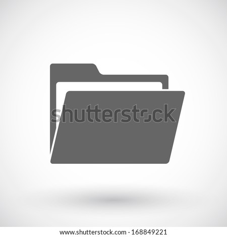 Open folder icon - stock vector