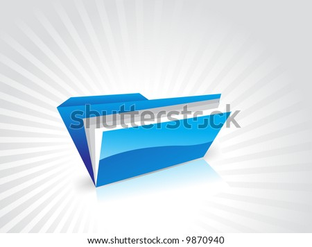 open folder vector illustration abstract background