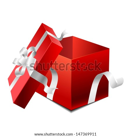 open gift box - stock vector