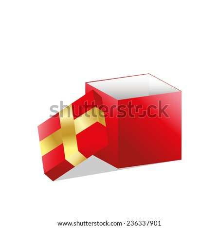 Open gift box , Vector illustration