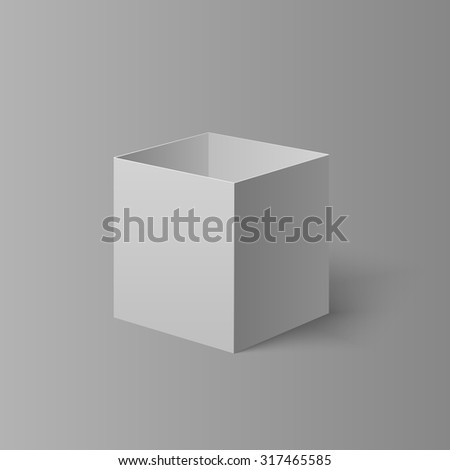 Open light box for your design - stock vector