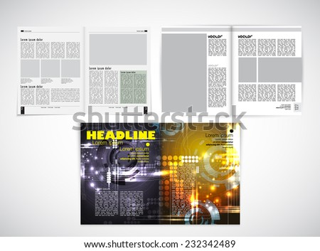 Open Magazine, vector Illustration.  - stock vector