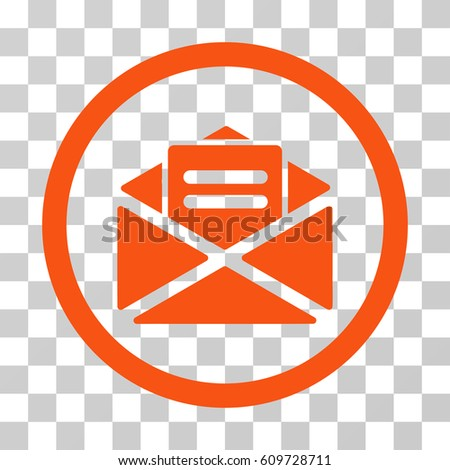 Open Mail Icon Vector Illustration Style Stock Vector 609728711 ...