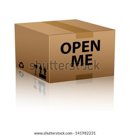 open me internet web icon - stock vector