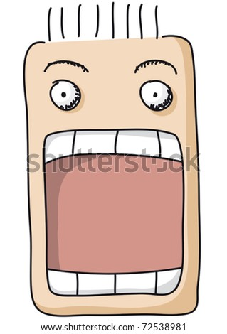 surprise big mouth vampire printable screaming stock photos images amp pictures 7223