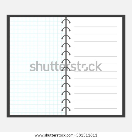 Square Lined Paper Photos RoyaltyFree Images Vectors – Lined Notebook Paper Template