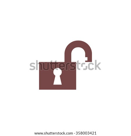 Open padlock. Colorful vector icon. Simple retro color modern illustration pictogram. Collection concept symbol for infographic project and logo - stock vector