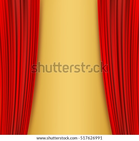 open red curtains theater background