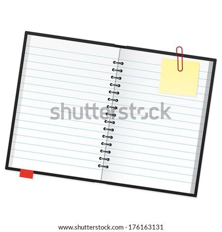 Open Scrapbook Isolated Scrapbook Marker Sticky Stock Vector 2018