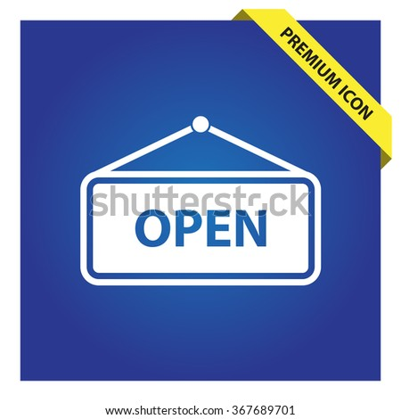 Open sign icon, vector illustration.