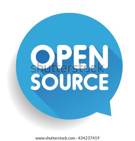 Open Source button vector - stock vector