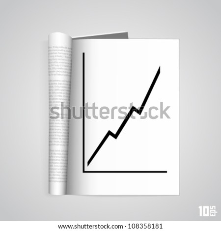 Open the paper journal with the schedule - stock vector