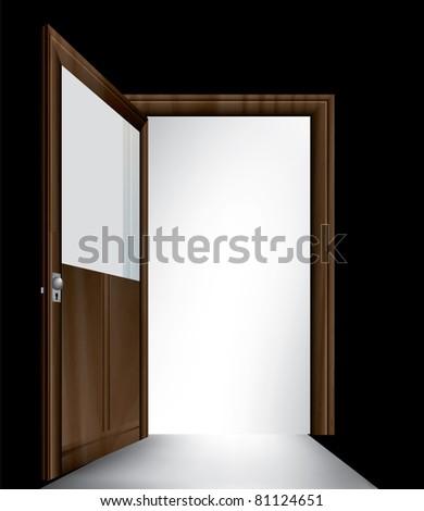 open vector entrance - stock vector