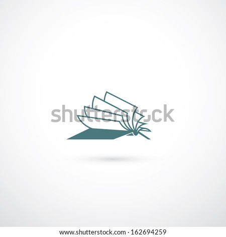 Opened book symbol - vector illustration